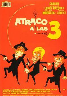 """""""Atraco a las tres"""", comedy film by José María Forqué (Spain, 1962)"""