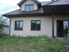Widok domu od strony ogrodowej #dom #projekt #ogród