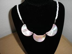 Genuine Mother of Pearl shell pink Half by CreationsbyMaryEllen, $13.25