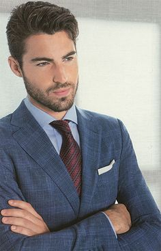 Fashion Suits, Mens Fashion, Handsome Bearded Men, Mens Tailor, Fashion Gallery, Mens Suits, Suit Jacket, Nyc, Coat