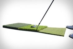 You can't always make it to the range, but you can make sure you get your swings in anyway with the Range To Go. This portable mat offers three hitting surfaces that simulate the tee, rough, and fairway, all in...