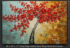 ORIGINAL Abstract Contemporary Red Cherry by ModernHouseArt