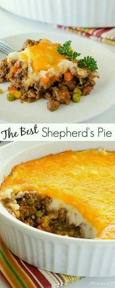 all recipes comfort food: Shepherd's Pie (Cottage Pie) . Casserole Recipes, Meat Recipes, Dinner Recipes, Cooking Recipes, Healthy Recipes, Recipies, Sirloin Recipes, Beef Sirloin, Cake Recipes