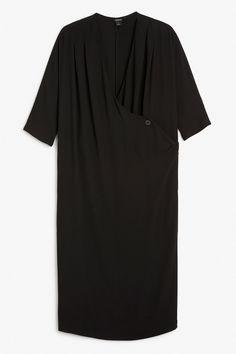 Monki Image 1 of Wrap dress  in Black