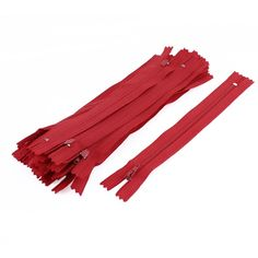 uxcell® Nylon Dress Pants Zippers Tailor Sewing Craft Tool 18cm 20 Pcs Red *** Click on the image for additional details.