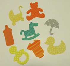 IronOn Appliques  Baby Girl Iron On Applique Set  by bingecrafter, $18.00