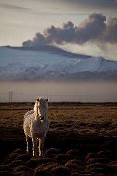 Photos of the volcano in Iceland taken Rebekka Gudlesfsdottir.