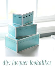 diy lacquer lookalike nesting boxes tutorial from centsational girl Decorative Storage Boxes, Diy Storage, Diy Organization, Organizing, Storage Bins, Crafty Craft, Crafty Projects, Diy Projects To Try, Art Projects