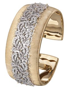 Diamond and gold bracelet, by Buccellati.