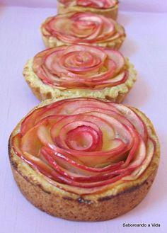 saboreando a vida: Tortinhas Rosas de Maçã