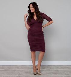 Sexy Plus Size Fashion - Ruched Dress by KIYONNA