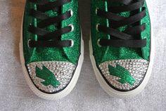 Custom Converse UNT Mean Green by JCorreaCreations on Etsy Mean Green, Custom Converse, State University, Cheerleading, Graduation, Texas, Spirit, College, Diy Crafts