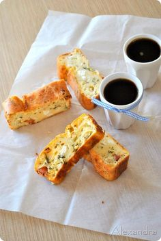 Savory cake (in Greek) Greek Recipes, My Recipes, Cooking Recipes, Favorite Recipes, Sweet Loaf Recipe, Cyprus Food, Savory Muffins, Cooking Cake, Greek Cooking