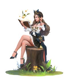 terin kim Female Character Design, Character Concept, Character Art, Concept Art, Fantasy Rpg, Fantasy Girl, Fantasy Artwork, Fantasy Characters, Female Characters