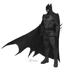 Batman designs for TT's Batman season Brian Matyas Iron Batman, Batman Armor, Batman Suit, Gotham Batman, Batman Robin, Batman Comic Books, Comic Art, Gotham City, Batman Concept Art