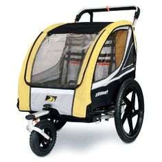 ZUMU 3-in-1 Bike Trailer Jogger & Stroller for 2 Kids (up to 100#) or Pet Dog - Click image twice for more info - See a larger selection of bicycle seats and trailers at http://zbabyproducts.com/product-category/baby-bicycle-seats-and-trailers/ - baby, infant, kids, child, nursery, baby trailers, baby seats, gift ideas, baby outdoor gear