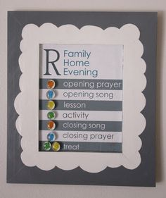 We used to have a Family Home Evening Board that I liked but it was so wide that it was hard to find a place to hang it. So I made a new one. I used an old magnet board I got years ago at Roberts. Do they still sell them? I don't live near a Roberts anymore so I don't know. I haven't seen them at Michael's, and haven't