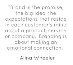 Branding Quote from Alina Wheeler