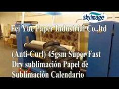 (Anti-Curl) 45gsm Super Fast Dry sublimación Papel de sublimación Calendario
