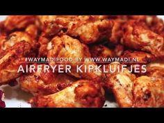 Airfryer kipkluifjes - YouTube Air Flyer, Air Fryer Recipes, Tapas, Slow Cooker, Bbq, Turkey, Low Carb, Snacks, Chicken