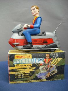 TV toy buffs: another beauty, the Fireball XL5 Jetmobile #Supermarionation
