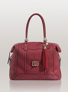 Gerri Large Box Satchel in Ruby by Guess