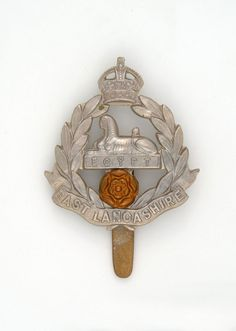 Cap badge, other ranks, East Lancashire Regiment, 1914 (c) Army Hat, Military Cap, Online Collections, British Army, Military History, Beret, Badges, Clock, War