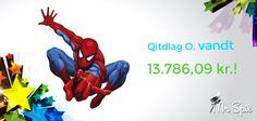 Stort tillykke til Qitdlag med den lækre gevinst på Spiderman spilleautomaten i går. Hele 13.786.09 kr. blev udløst via én af de tre progressive jackpots på MrSpils Marvel spilleautomater. Prøv dem selv og få 50 kr. at spille for + 100% bonus op til 2.000 kr.: http://www.mrspil.dk/spilleautomater