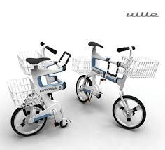 "This bike called ""Ville"" is an urban folding bicycle designed by Hyuk-Jae Chang. The bike has two storage baskets and folds up from the middle hinge at the touch of a button to become an ideally-sized grocery cart for shopping at the supermarket. Industrial Shelving, Industrial Interiors, Industrial Furniture, Industrial Cafe, Industrial Closet, Industrial Bookshelf, Industrial Windows, Industrial Restaurant, Industrial Apartment"