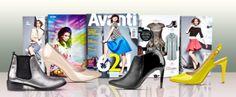 W marcowym wydaniu miesięcznika AVANTI zaprezentowano m.in. sesję zdjęciową, w której znalazły się neonowe szpilki Wojas (4422/38) oraz stylizacje z metalizowanych tkanin. Wśród ubrań i dodatków wyróżniono sztyblety Wojas w kolorze srebra (4557/69). Styliści magazynu proponują również bluzkę inspirowaną stylem Jackie Kennedy, z którą doskonale komponują się szpilki Wojas w kolorze nude (4421/34) oraz czarne botki Wojas na wysokim obcasie (4505/51).