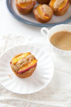 Baking with Whole Grains: Peach Ginger Muffins | Annie's Eats