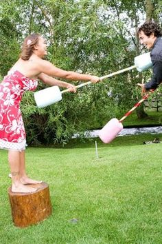 Lawn Games Avoid any awkward silences and get your guests in a glorious mood with an array of games for them to play in the sun. From croquet, to sack races and giant Twister, there's something for everyone. And what's even better than that, you can hang on to them and whip them out the next day for a post-wedding soiree in the sun! Perfect.