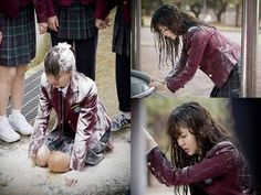 Kim So Hyun gets bullied with flour and eggs on upcoming drama 'Who Are You - School 2015' | allkpop