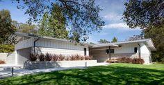 Mid-century Remodel - Modern Home - Minimalist Palette - Front Sidewalk - Interior Design