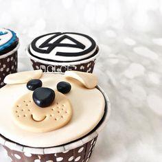 Customized Cupcakes  #cupcakes #customized #cute #dogface #linkinpark #logo #chocolatecupcakes #chocolate #sweet #cupcakesforhim #dolce #dolcecakes #cakestudio #cakestudiobyakshika #delivery #pickup #available #delhi #noida