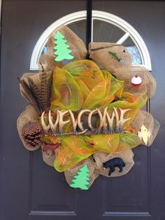 Outdoor hunting fishing and wildlife wreath by Knitterifics, $60.00
