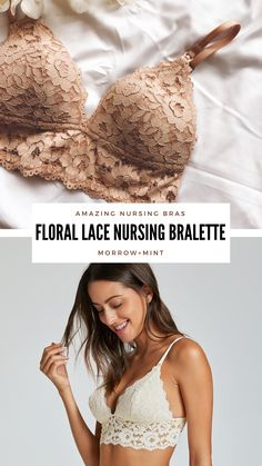 Shop beautiful, amazing nursing bras from the MORROW+MINT Maternity Collection Maternity Wear, Maternity Fashion, Baby Life Hacks, Everything Baby, Bustier, Baby Time, Baby Bumps, Beautiful Lingerie, Floral Lace