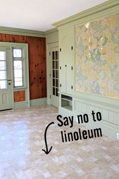 We'll show you step-by-step how to go about painting linoleum floors to be super durable and long lasting, and what supplies to use to get er done! Painted Kitchen Floors, Linoleum Kitchen Floors, Painted Vinyl Floors, Painting Laminate Floors, Paint Linoleum, Laminate Flooring, Plywood Subfloor, Floor Painting, Plywood Floors