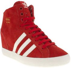 online retailer 7af8b 6fd15 Womens Adidas Basket Profi Heel Wedge Trainers on shopstyle.co.uk Adidas  Kvinder,