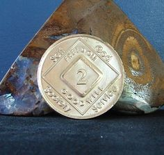 Narcotics Anonymous Vintage 2 Year Bronze Medallion 2005 Naws Series Coin Token | eBay