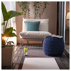 HAVSTEN Easy chair, in/outdoor, beige. Generous seats, fluffy cushions as well as elastic mesh fabric make the sofa comfortable. Outdoor Seat Pads, Outdoor Cushion Covers, Outdoor Cushions, Cushions On Sofa, Ikea Outdoor, Indoor Outdoor, Sofa Kivik, Fluffy Cushions, Beige