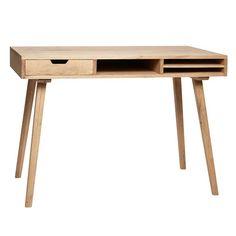 Skrivebord med rum og en skuffe fra Hübsch