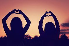 Friends in the sunset. Heart <3 photography