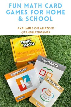Is your 3rd-6th grader learning math? Try out our Home Kit - it comes with 3 fun math card games to reinforce and strengthen math skills! #math #mathflashcards #mathgames #cardgames #addition #subtraction #multiplication #division #mathpractice Math Card Games, Card Games For Kids, Math Flash Cards, Fact Families, Number Games, Math Practices, Group Activities, Math Skills, Fun Math