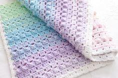 Rainbow Popcorn Crochet Baby Blanket Pattern