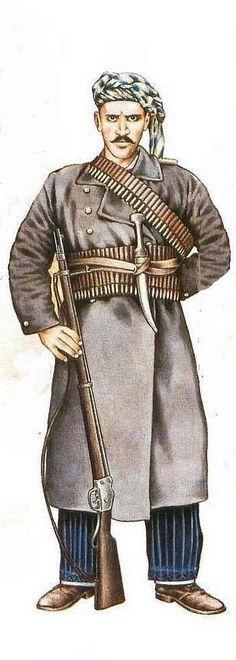 Kurdish cavalry, 1898.