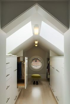 Remarkable Attic remodel for storage,Attic bedroom closet ideas and Attic storage conversion. Attic Bedroom Closets, Attic Closet, Attic Bathroom, Attic Rooms, Attic Spaces, Attic Playroom, Attic Wardrobe, Closet Space, Master Closet
