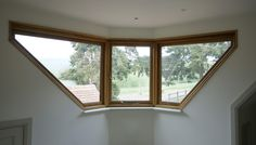 Splayed Oak windows to give full panoramic view across fields Timber Windows, Surrey, Joinery, Fields, Home, Carving, Woodworking, Carpentry, Ad Home