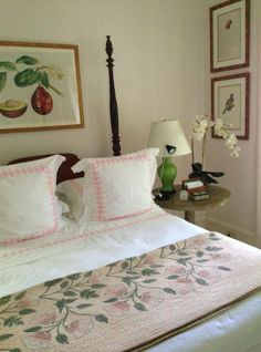 soft pinks in guest bedroom of Bunny Williams in her Dominican Republic home
