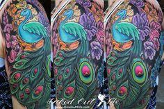 Like & Share Colorful Peacock Tattoo!